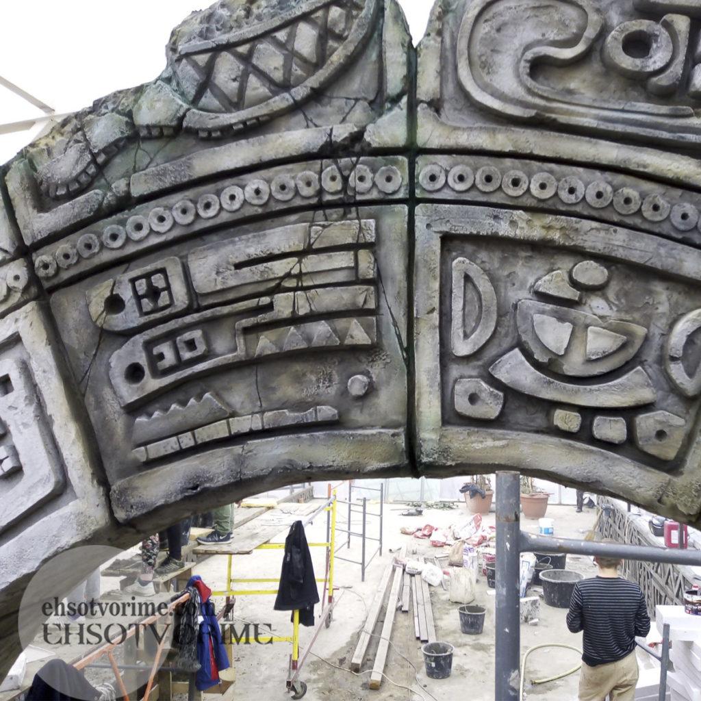 3. Рельеф в стиле майя из беона.