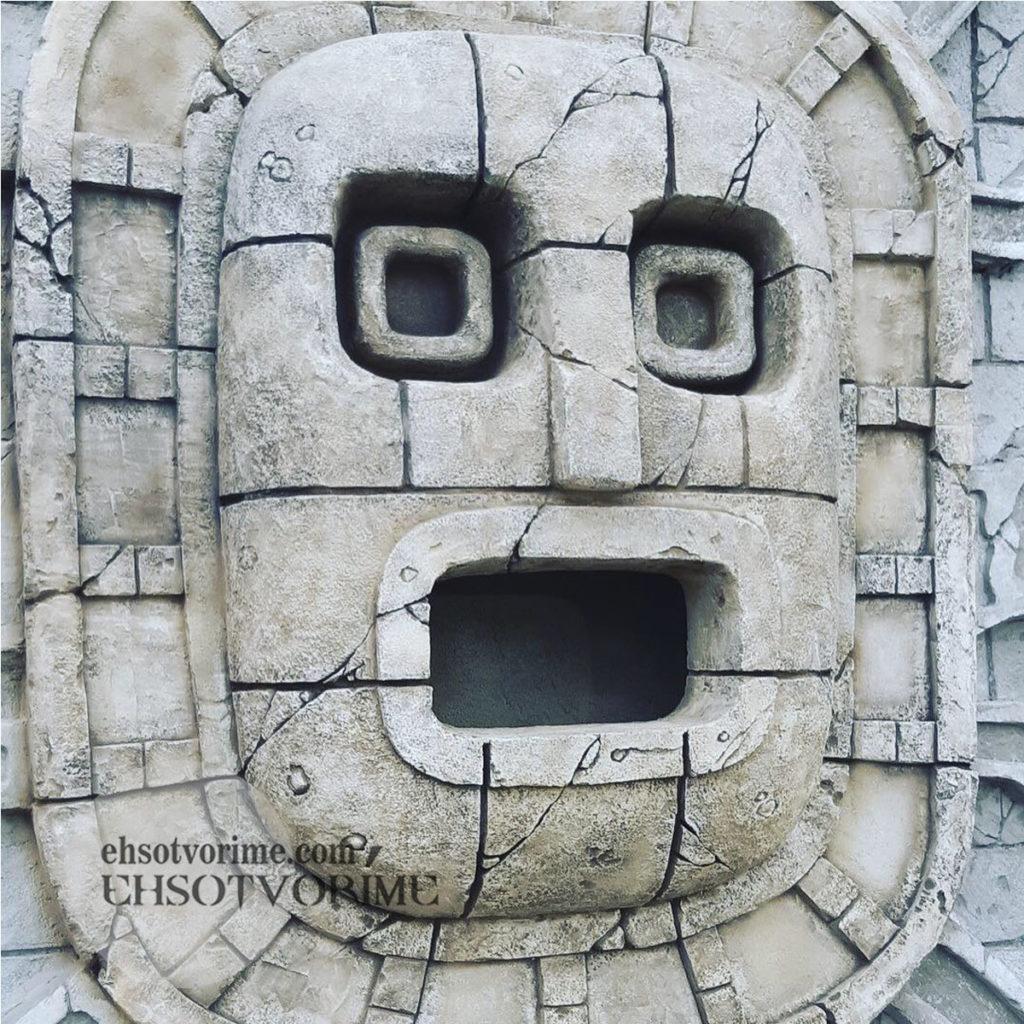 Декор из бетона в стиле майя.