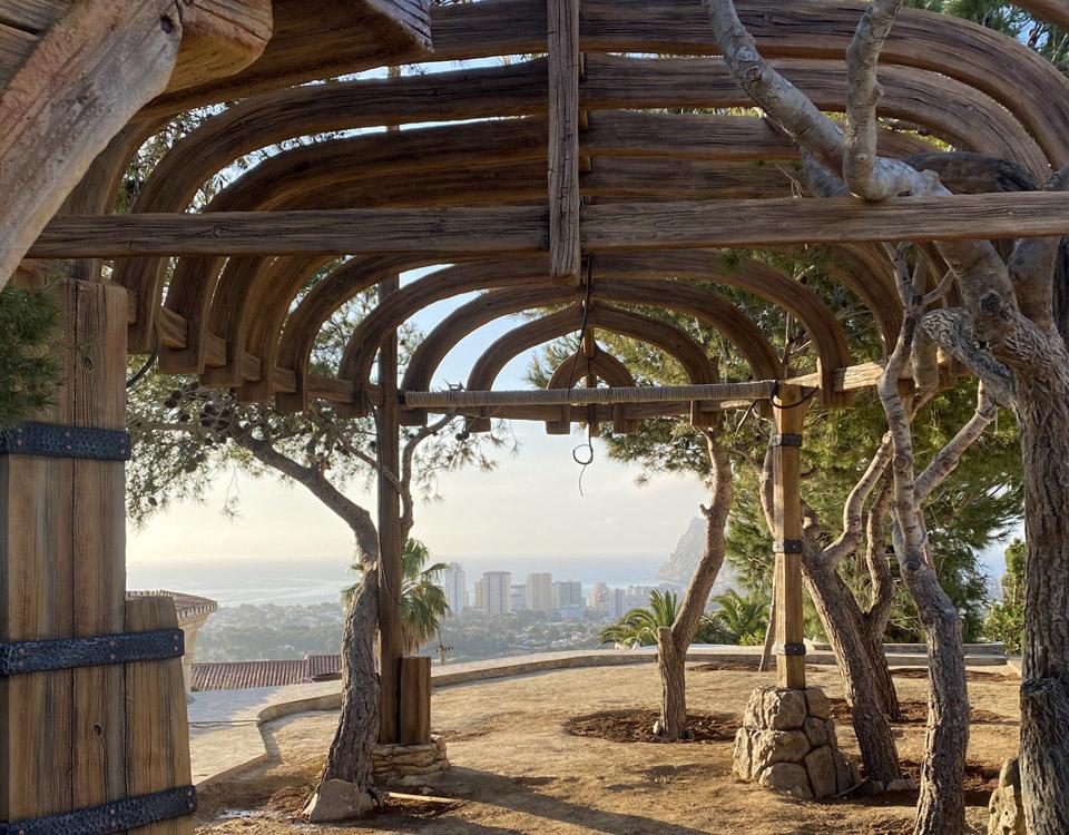 зона отдыха в Испании декорации из арт-бетона