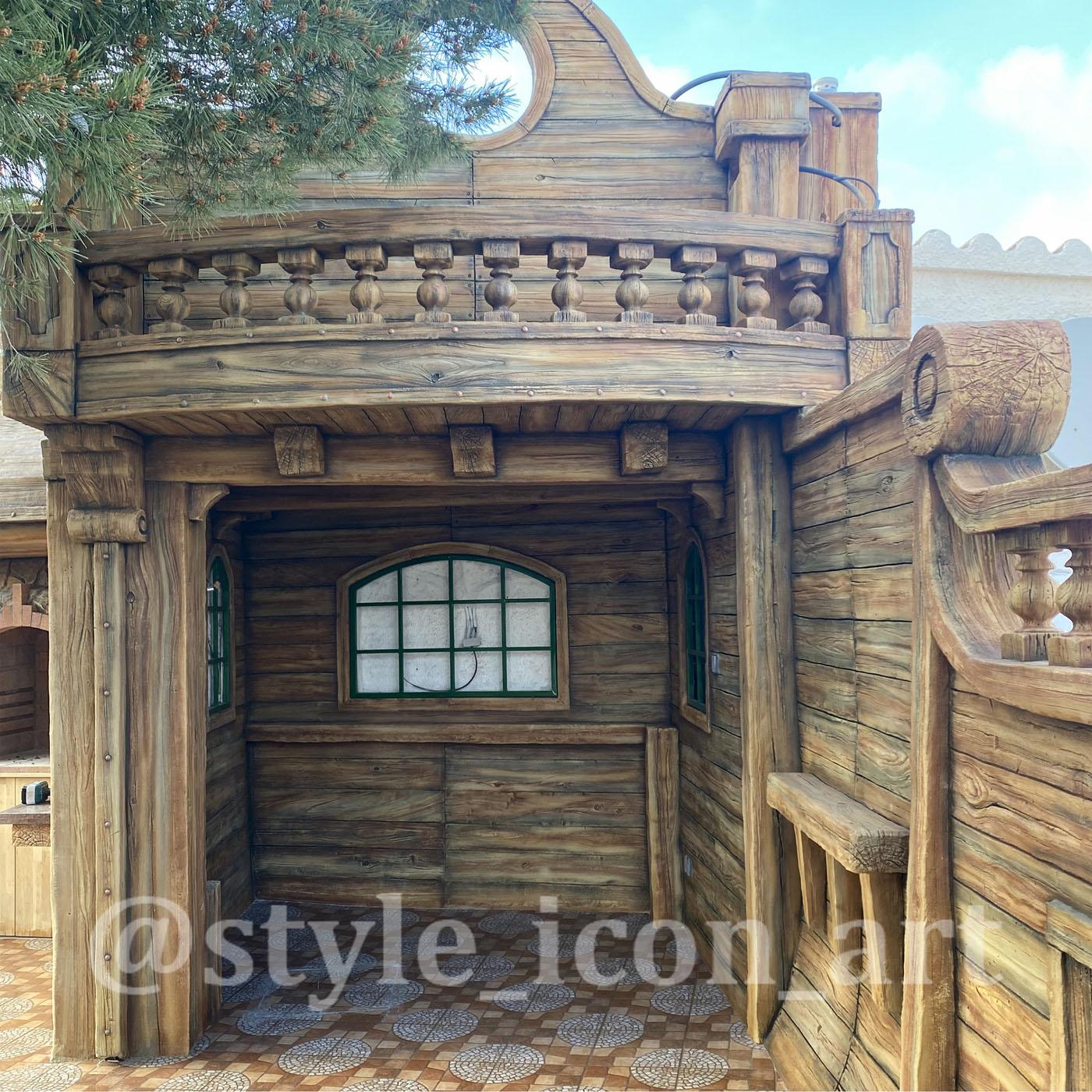 каюта корабля, декоративный балкон из артбетона.