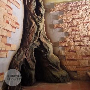 Дерево из архитектурного бетона.